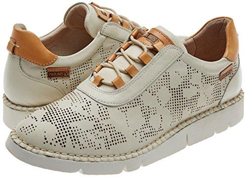 Derby W4l Para Pikolinos Mujer Vera Cordones Blanco De v17 nata Zapatos 0Wn1gW7