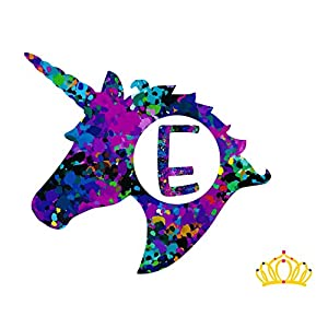 Letter E Monogram Unicorn Decal for Yeti Cup, Tumbler, Laptop, or Car - 3 inch height