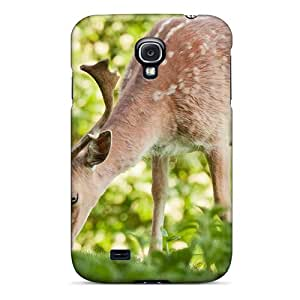 Galaxy Case - Tpu Case Protective For Galaxy S4- Stag Eating Nettles