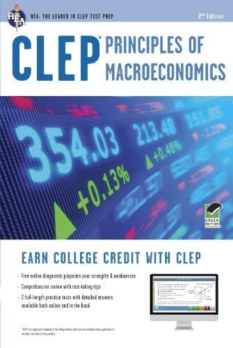 CLEP Principles of Macroeconomics with Online Practice Exams (CLEP Test Preparation) by Sattora, Richard Published by Research & Education Association 2nd (second) , Revised edition (2012) Paperback