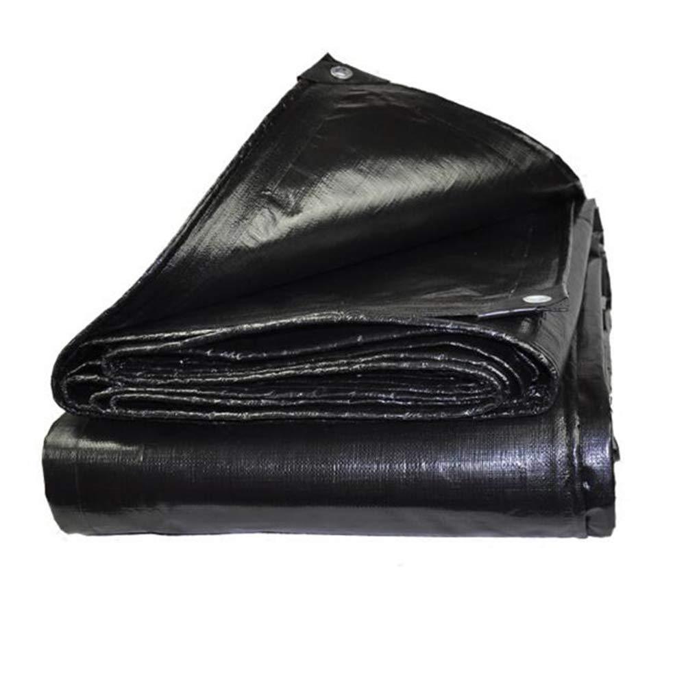MUMA ターポリン 黒 厚い 環 保証 防水 シェード 簡単 倍 杼口 布 (サイズ さいず : 5*5M) 5*5M  B07K4RLX2M