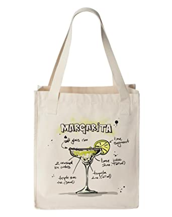 Amazon.com: Margarita Cocktail Canvas bolsa Bag, algodón ...