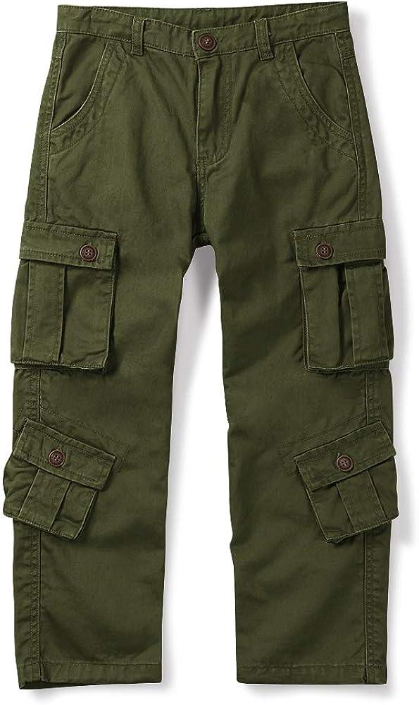 8 Pockets Casual Outdoor OCHENTA Boys Cotton Military Cargo Pants