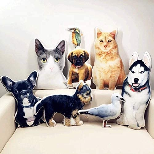 VEELU Custom Pet Pillow Personalized Dog Cat Shaped Pillow