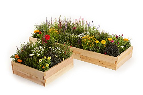 Naturalyards Raised Garden Bed 16-in-1 Kit (Cedar, 3' Boards)