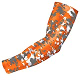 Bucwild Sports Digital Camo Compression Arm Sleeve Youth/Kids & Adult Sizes – Baseball Basketball Football Running – UV/Sun Protection Cooling Base Layer(Orange Gray – Youth Small YS) Review