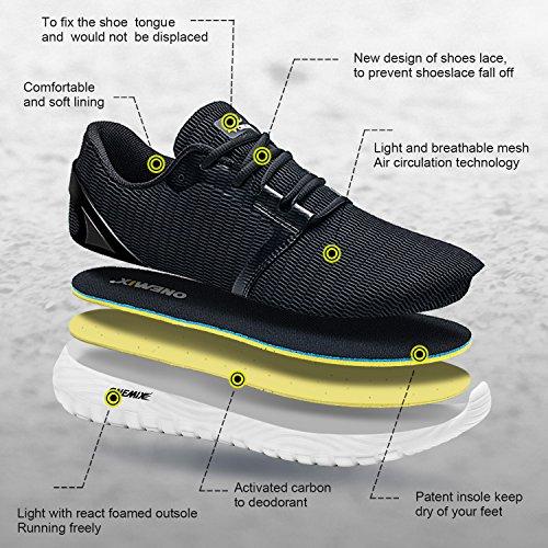 Sportive Uomo Scarpe Ginnastica Running Onemix Grigio Sneakers Corsa Fitness Da Casual RAqFnY