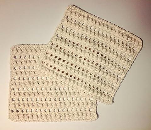 Nubby Mesh placemats. 100% Cotton Crochet. 8