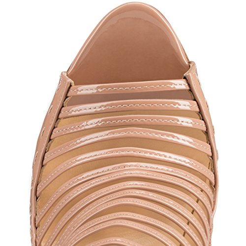 Nude Joogo Sandals Women's Heel 5 High Dress Gladiator Open Size Pumps Toe Stiletto Shoes afPraq