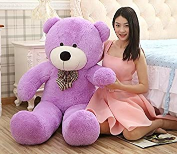 MorisMos Giant Teddy Bears Plush Toys Dolls Purple Teddy Bear Valentineu0027s  Day Birthday Gifts 120CM