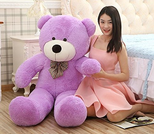 Price comparison product image MorisMos Giant Teddy Bears Plush Toys Dolls Purple Teddy Bear Valentine's Day Birthday Gifts 120CM