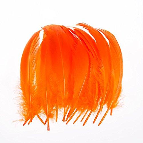 100pcs 6-8 Inches 15-20CM Genuine Nature Goose Feather Jewelry Making Crafts Orange