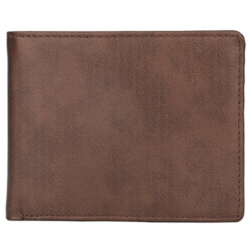 Wallet for Men-Genuine Leather RFID Blocking Bifold Stylish Wallet With 2 ID Window (Coffee-Galaxy)
