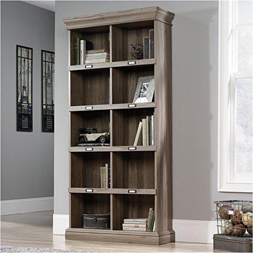 Pemberly Row Tall Bookcase in Salt Oak