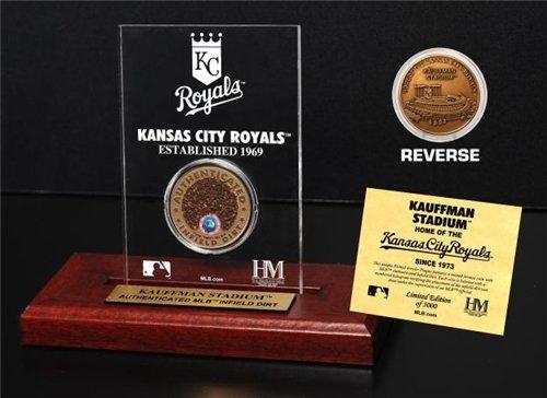 Mlb Player Coin - Highland Mint MLB Kansas City Royals Kauffman Stadium Infield Dirt Coin Etched Acrylic