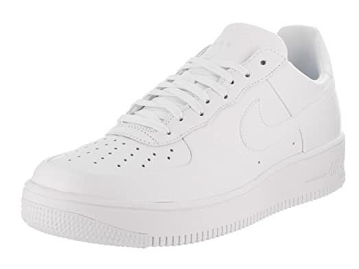 timeless design 0999a c1ace ... switzerland nike mens air force 1 ultraforce leather white white white  basketball shoe 9.5 men 009de