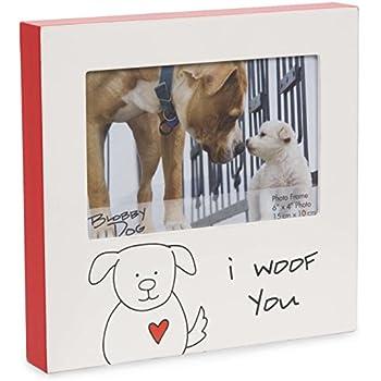 Amazon.com - Pavilion Gift Company 37140 Blobby Dog - I Woof You Red ...