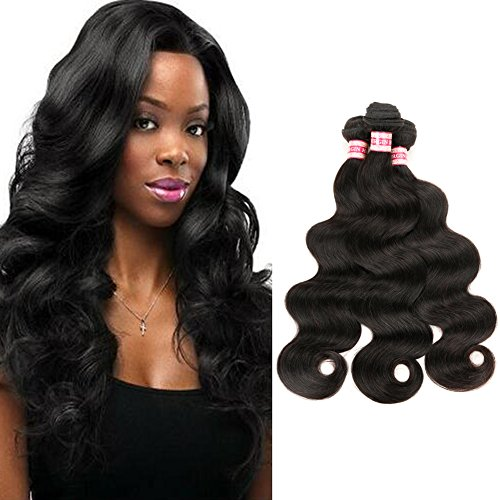 Fabeauty 7a Brazilian Body Wave Virgin Hair 3 Pcs Lot Cheap 100% Unprocessed Human Hair Extensions Natural Black Brazilian Virgin Hair Soft Body Wave Mixed Length 3 Bundles (24 26 28)