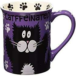 "Our Name is Mud ""Catffeine"" Stoneware Mug, 16 oz."