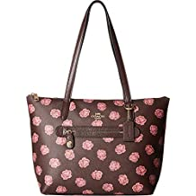 COACH Womens Taylor Tote in Floral Printed Leather
