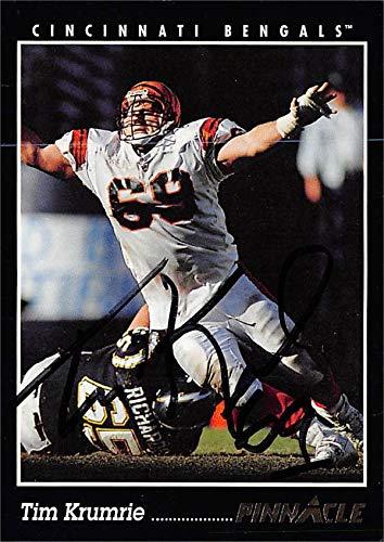 (Tim Krumrie autographed Football Card (Cincinnati Bengals) 1993 Pinnacle #22)