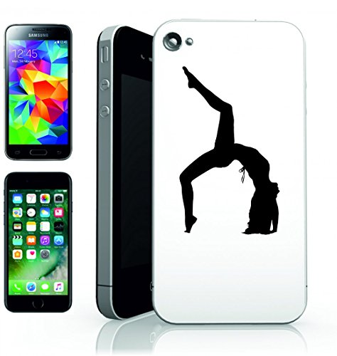 Smartphone Case Donna della femmina della ragazza umana della persona della gente di allungamento di Esercizio di yoga pose di salute della silhouette per Apple Iphone 4/4S, 5/5S, 5C, 6/6S, 7& Sam