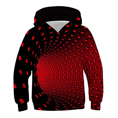 Boys Girls Fashion Pullover Hoodies 3D Printed Geometric Novelty Sweatshirt Jackets Cool Pullover Jumpers with Pockets…