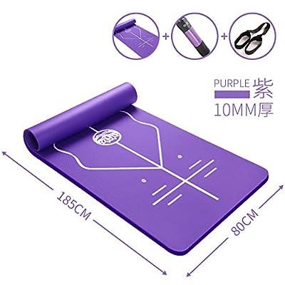 YOOMAT Tasteless Tpe Tapis de Yoga pour débutants, à l'épaississement et l'élargissement Anti Skid Pad, de remise en forme Yoga Allongement Pad ligne médiane.