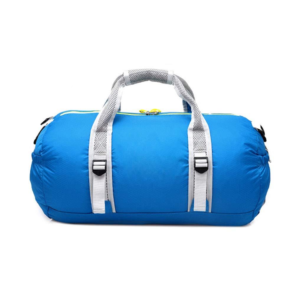Aszhdfihas Sac de Fin de Semaine Sac de Bagage de Main de Voyage de pli Sac d'épaule de Sac Multifonctionnel de Sport Les Bagages à Main (Couleur : Bleu)