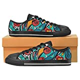 InterestPrint Colorful abstract background Classic Canvas Slip-On Shoes for Men