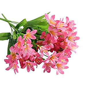 Koala Superstore Beautiful Artificial Orchid Bouquet Home Decoration Fake Flowers, 2 Bunches, Pink 30