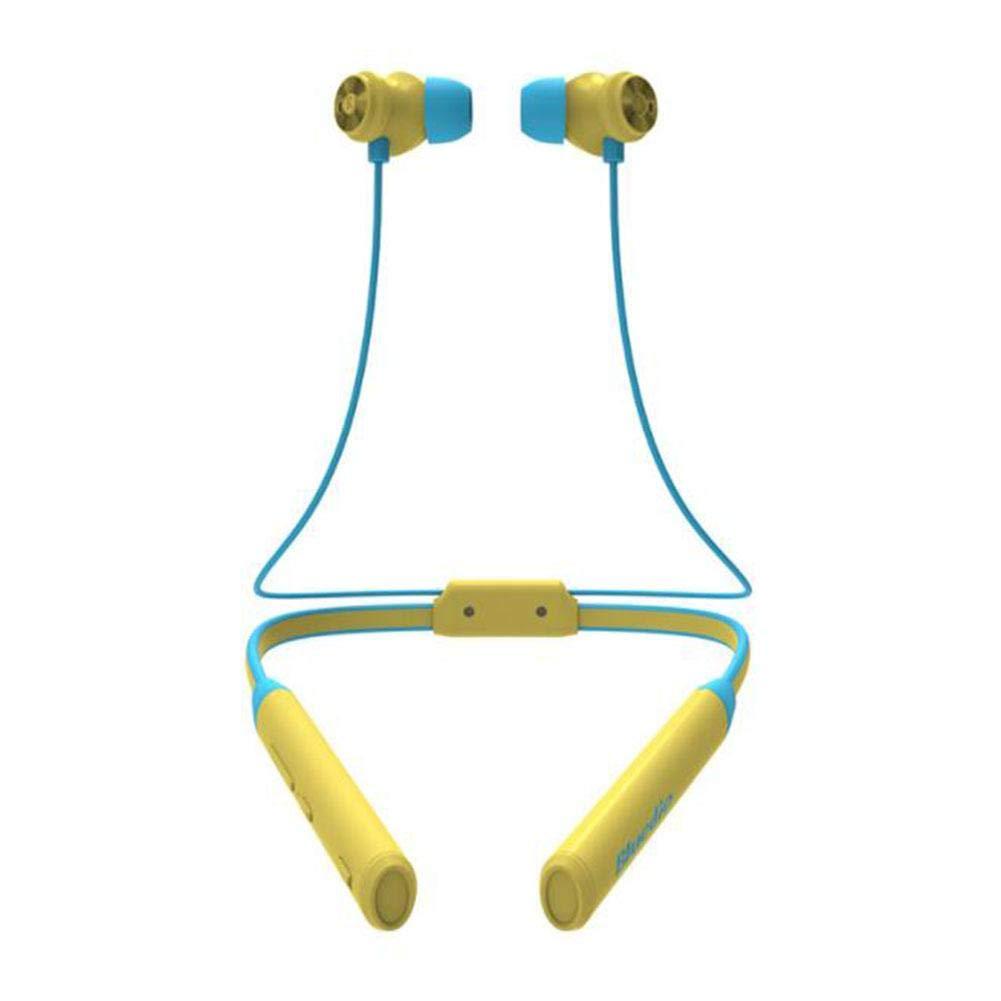 Ladeyi Bluetoothヘッドセット ネックマウント アクティブノイズリダクション スポーツヘッドセット ネックマウントヘッドセット アクティブノイズキャンセリングヘッドホン (ペーパーボックス) イエロー DE0216302wZAC  イエロー B07QJYRWH1
