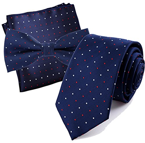 Flairs New York Collection Neck Tie (Prussian Blue / Red / White [Mini Polka Dots])