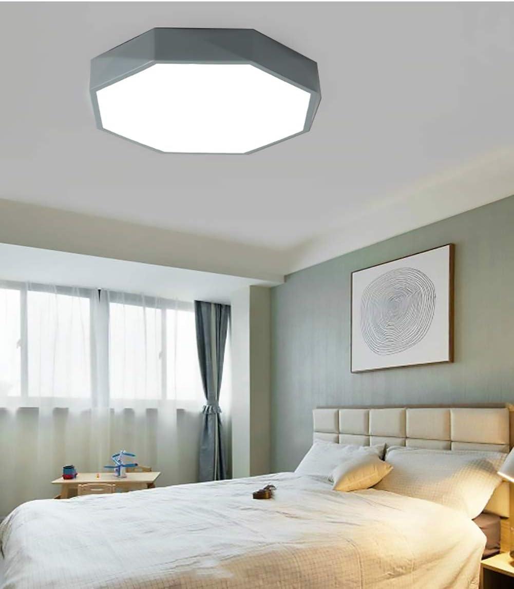 LED-Lampe, Wohnzimmer-Lampe, Geometric Polygon,15W,Deckenlampe, LED  Deckenleuchte-Panel, Deckenstrahler,Schlafzimmer(Grau/Kalt Weiß)