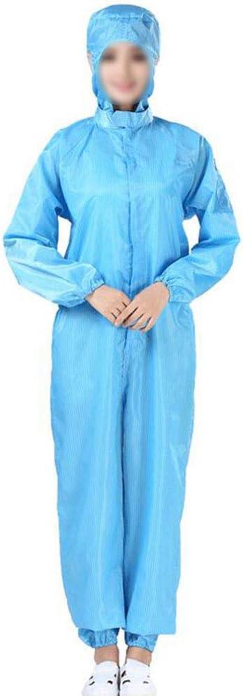 SHANGLY Overall Schutzanzug mit Haube Wiederverwendbarer antistatischer Staubschutz Spr/ühfarbe und Elektronik Herstellung Arbeitskleidung