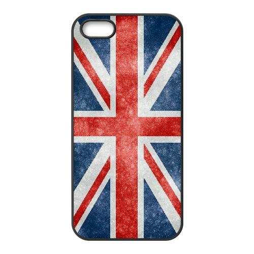 Grunge British Flag iPhone 5 5s Cell Phone Case Black Kdoo