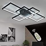 LED Ceiling Light Dimmable Living Room Kitchen Island Table Light Fixture With Remote Control, Modern Dining Room Flush Mount Acrylic Chic Design Ceiling Chandeliers Lighting for Bedroom Bathroom Lamp