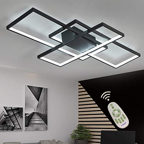 Ceiling Modern Lamps - LED Ceiling Light Dimmable Living Room Kitchen Island Table Light Fixture With Remote Control, Modern Dining Room Flush Mount Acrylic Chic Design Ceiling Chandeliers Lighting for Bedroom Bathroom Lamp