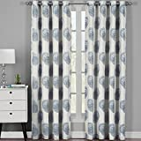 Lafayetee Gray, Top Grommet Jacquard Window Curtain Panel, Set of 2 Panels, 108×120 Inches Pair, by Royal Hotel
