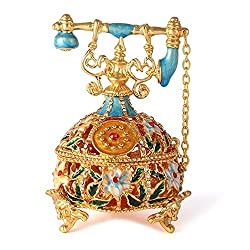 Decorative Hinged Jewelry Trinket Box