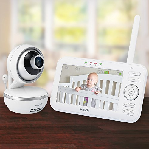 """VTech VM5261 5"""" Digital Video Baby Monitor with Pan & Tilt Camera, Wide-Angle Lens and Standard Lens, White by VTech (Image #9)"""