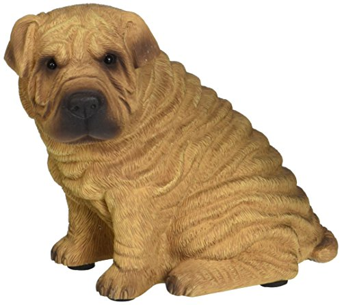 Sandicast Mid Size Red Chinese Shar-Pei Sculpture - Sitting