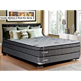 "Continental Sleep, 13-Inch Soft Foam Encased Hybrid Eurotop Pillowtop Memory Foam Gel Innerspring Mattress And Wood Traditional Box Spring/Foundation Set, Good For The Back, No Assembly Required, Twin XL Size 79"" x 38"""