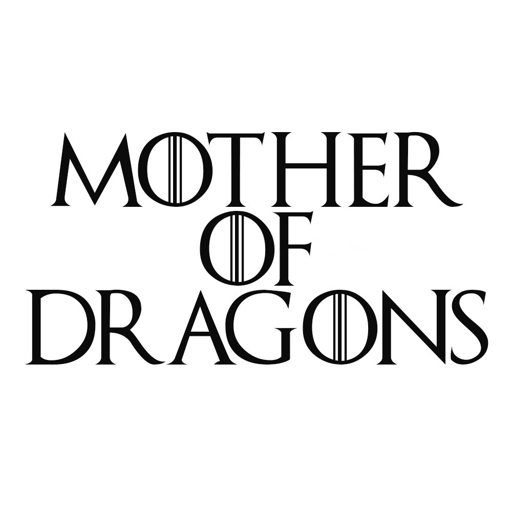 Amazon com game thrones mother of dragons vinyl sticker car decal 6 white automotive
