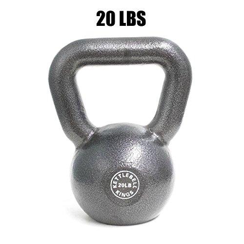 Kettlebell Kings | Cast Iron Kettlebell | Designed for Home Workouts, Swings & Strength Training (20 LB)