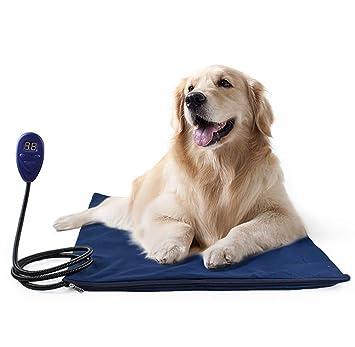 Cojín De Calefacción para Mascotas 30W Manta Eléctrica para Perros Y Gatos con 7 Niveles De Temperatura Ajustable, 25~55℃: Amazon.es: Deportes y aire libre