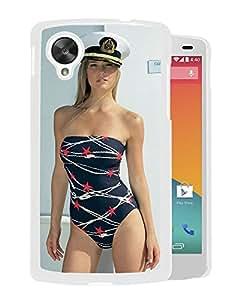 Beautiful Girl Cover Case For Google Nexus 5 With Bar Refaeli Girl Mobile Wallpaper(55) Phone Case