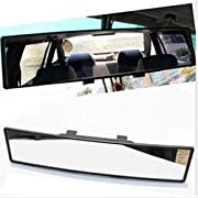 opar Auto Car 300mm Wide Convex Curve Interior Clip on Rear View Mirror