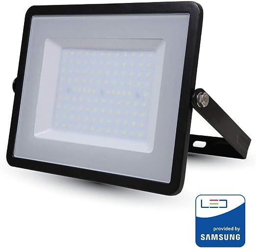 V-TAC VT-100 100W LED A+ Negro Proyector - Proyectores (100 W, LED ...