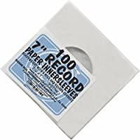 (100) Archival Quality Acid-Free Heavyweight Paper Inner Sleeves for 7 Vinyl Records #07IW